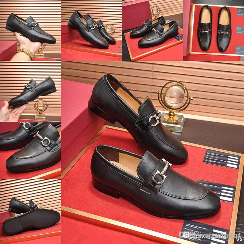 Chaussures italiennes Designers Designers Robe Chaussures Formelle Hommes 21Ss Coiffeur Mocasseurs Hommes Chaussures Cuir Robe de Prestige Sapato Social Masculino Ayakkabi