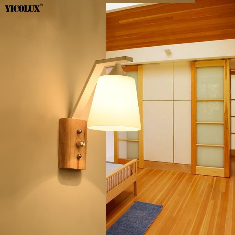 Lampada da parete Lampada da parete decorazione in vetro Apparecchio moderne lampade da interno luci di illuminazione per interni luci studio camera da letto comodino corridoio corridoio anello luminarie