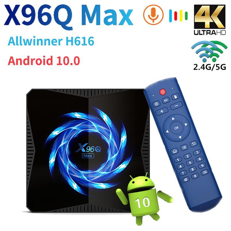 X96Q ماكس TVBox 6K 4K Android 10 TV Smart TV Box Allwinner H616 Media Player 2.4G / 5G WIFI BT5.0 Google Play Set Box Top Box 4GB 64GB