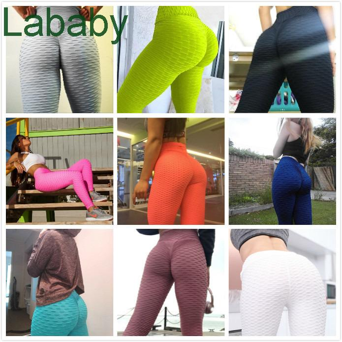 Wholesale High Waist Leggins Sexy Hip Push Up Leggings Workout Clothing Solid Breathable Classic Long Trousers Fitness Tights 2021
