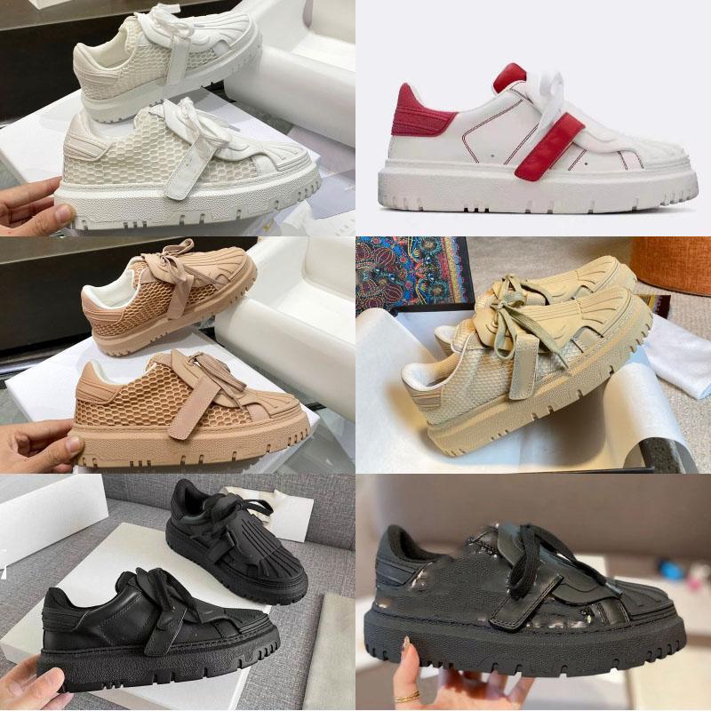 Nuovi Designer Scarpe Casual Scarpe Casual Lusurys Shell Head Pelle Little White Scarpe Bianco Aumento Delle Donne Shoes Flat Shoes Top Quality Lettere Trainer personalizzati
