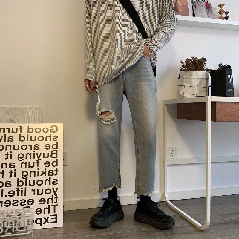 Jeans de Hommes 2021 Spring Automne Nouveau Jeunes Jeunes populaires Style coréen Chine Pantalon Slim Solid Couleur Pantalons Fashion Casual Pantalons Hommes