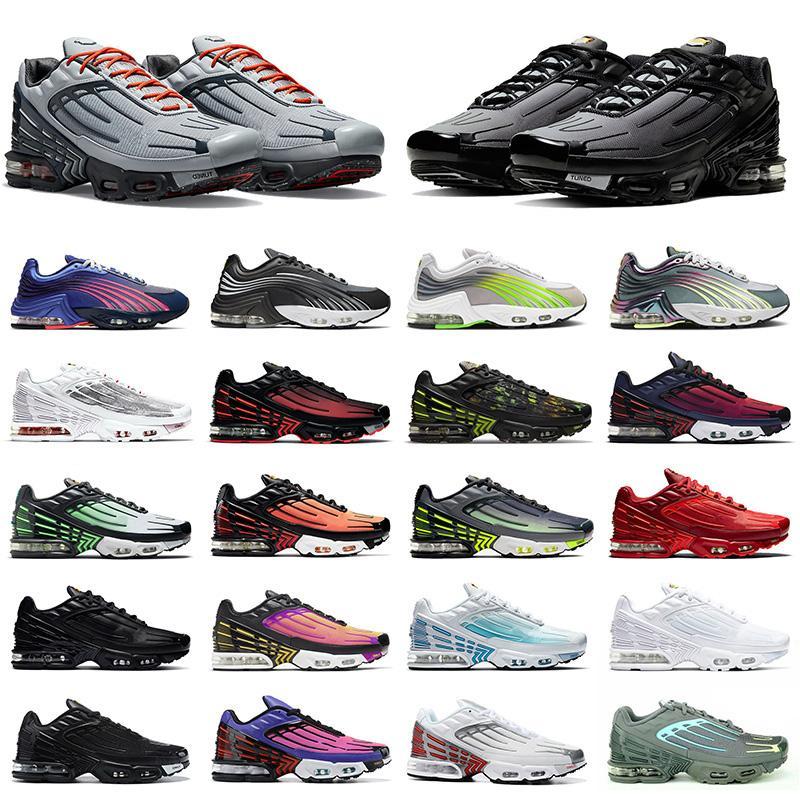 신발 nike air max tn 3 airmax plus 2 tuned 뜨거운 판매 클래식 남성 여성 운동화 tn 3 트리플 블랙 화이트 레이저 블루 그레이 남성 스포츠 운동화 조깅 트레이너