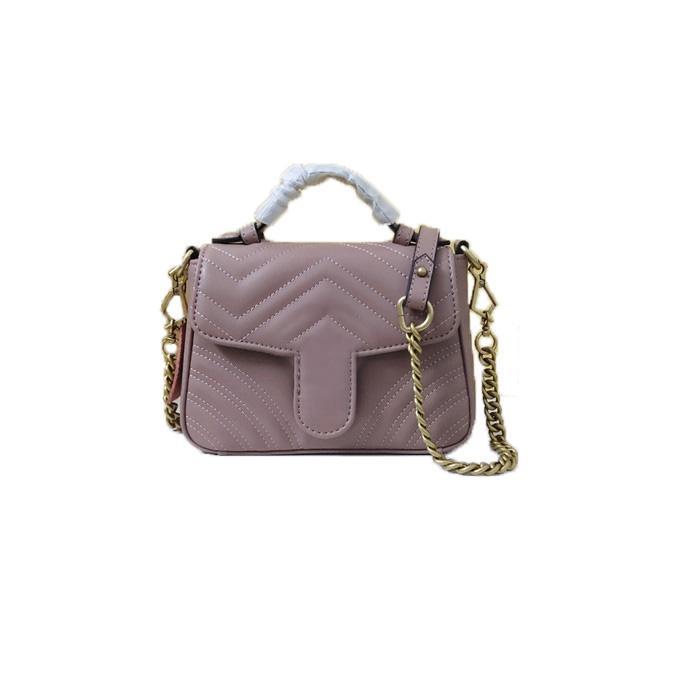 Luxurys Designers Novo estilo Marmont Sacos de ombro mulheres Corrente de ouro Cross Body Bag Bolsa de couro PU Bolsa de bolsa