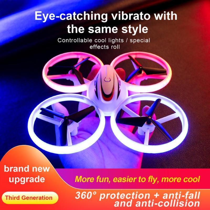 Дроны Zity S123 мини вертолет RC UFO воздушные суда, чувствующие инфракрасные маленькие квадрокоптерные электрические индукционные игрушки