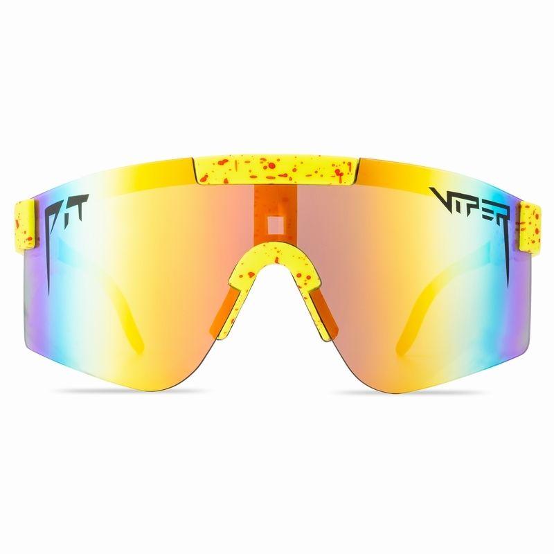 Gafas de bicicletas de ciclismo de Pit y Viper Gafas de sol de bicicleta de moda UV400 Outdoor Sports Eyewear MTB Gafas con estuche