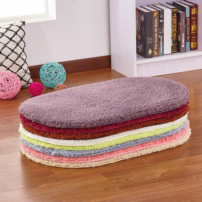 Soft Water Absorption Bath carpet Toilet Floor Absorbent Thick Carpets Non-slip Bathroom Mats Foam Bath Rug Ellipse carpets