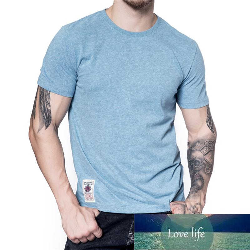New Summer Simple Cotton Tshirt for Men Casual Solid Color O-neck High Quality Men Clothing Fashion 19 Colors Men's T Shirt