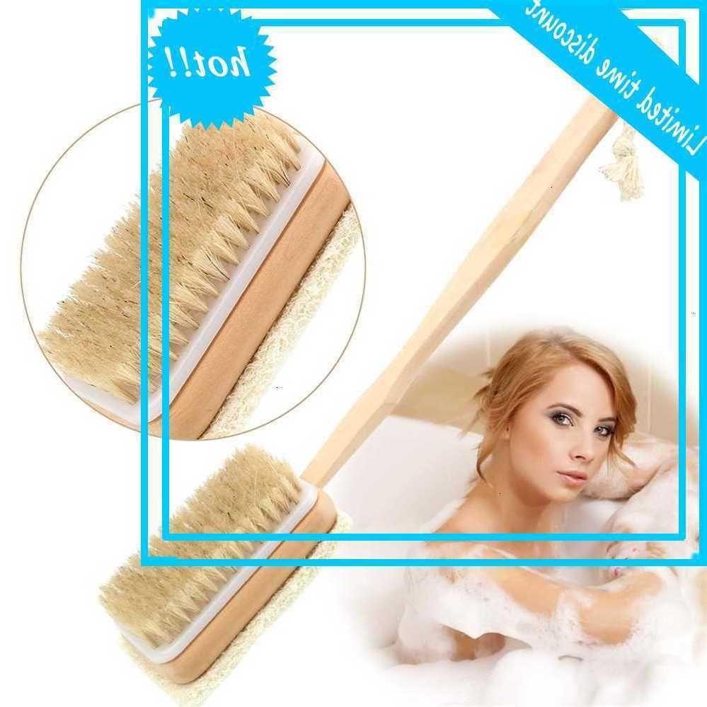 Bad Body Back Binsel Massage Dusche Griff Luffah Hair Beide Seiten Hautkutikula Fett entfernen