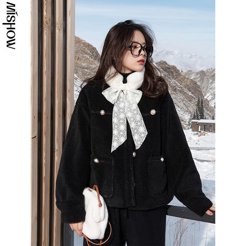 Женские куртки CMAZ 2021 зима для женщин с длинным рукавом Открытый теплый короткий с короткими куртками мода улица женское пальто MX20D9796