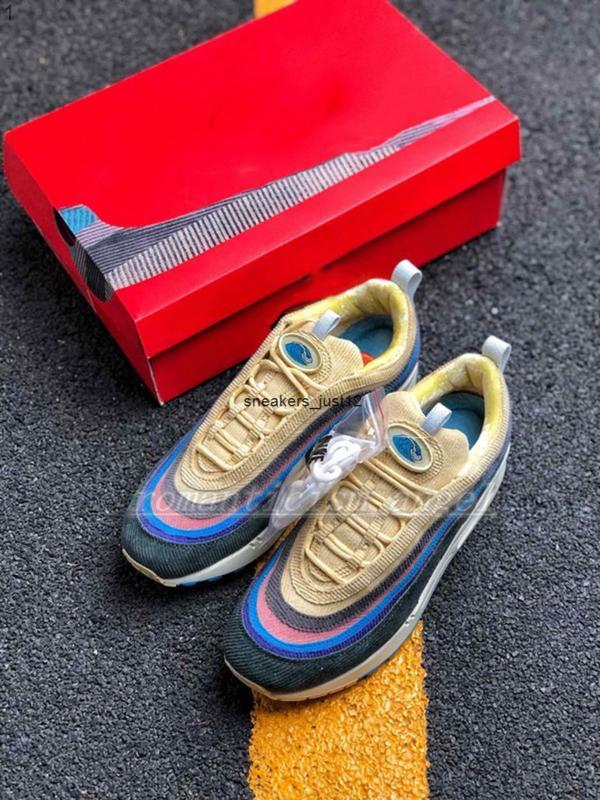 2021 NEW Nouveau Sean Wotherspoon Hommes Chaussures De Course Top Femmes Vivid Sulphur Multi Jaune Bleu Hybride Sport Baskets 36-45
