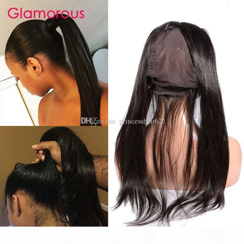 Glamouröse gerade menschliche Haarspitze Frontal 360 Schließung 8-20inches peruanisch indisch malaysischer brasilianischer 360 Spitzenband Frontal Verschluss zum Verkauf