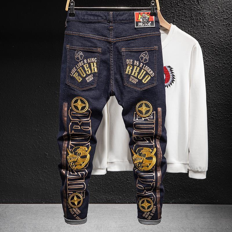 Ince Rahat Moda 2021 Stilist Kalite Erkek Pantolon Kot Fermuar Kot Yeni Yüksek Erkek Stylist Biker Pantolon Tasarımcı Denim Pjhiu