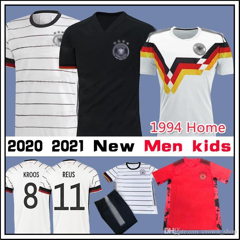 2020 2021 Германия Футбол Футбол 8 КРОС HUMMELS REUS Muller Werner Home Out Fußball Trikots Thailand Высочайшее Качество Мужчины Дети Кит Джерси