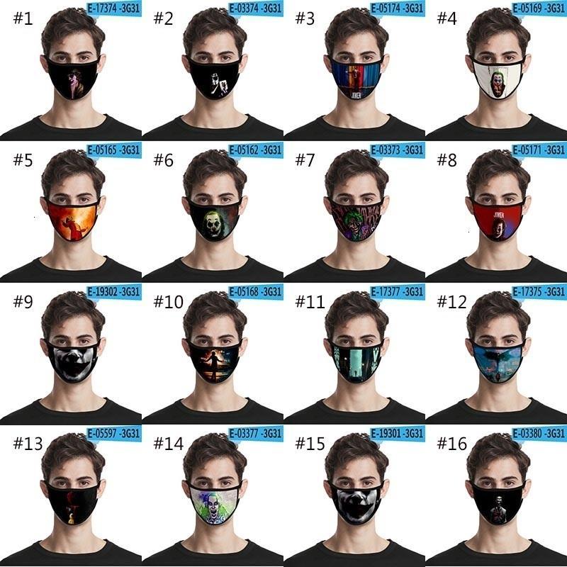 Лицо 3D клоун 28 Джокер Стиль Череп Дизайнер Печать Мойка пыленепроницаемая Мода Защитная Маска HH9-3185
