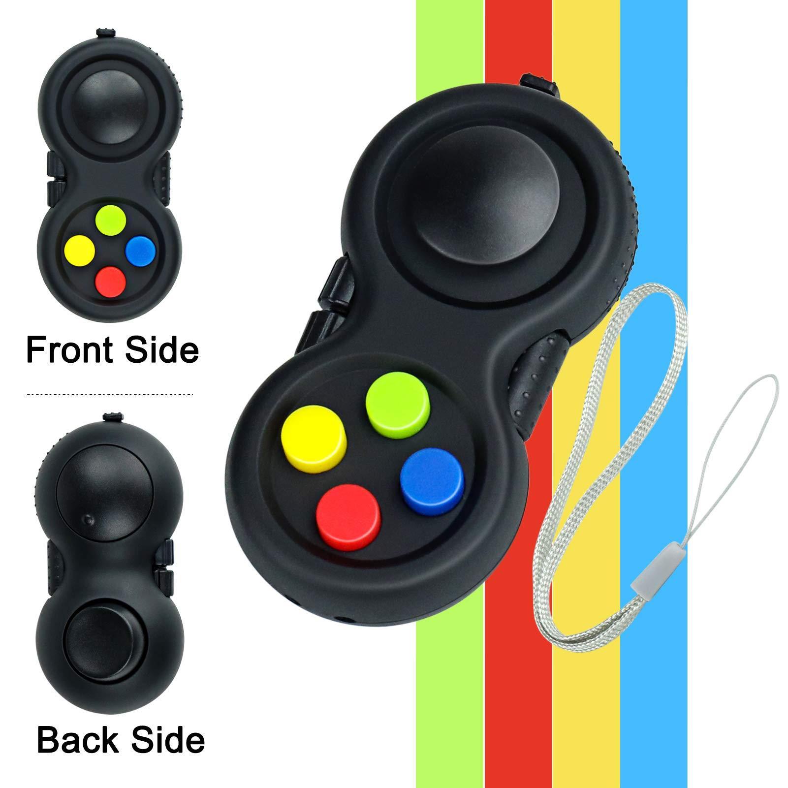 Fidget Pad Brinquedo para Ansiedade e Stress Relief 8 Fidget Características Cube com Botão Silencioso ABS Fidget Fidget Controller Pad Cubo para crianças e um