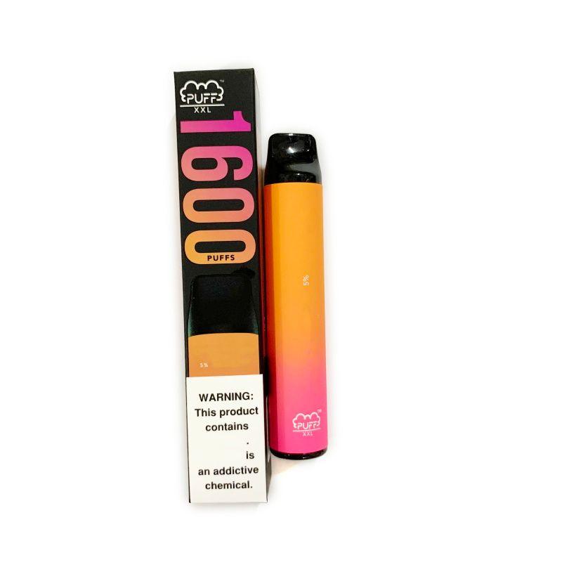최고의 퍼프 XXL 1600Puff 일회용 vape 펜 4ml 재충전 가능한 vape 기화기 전자 담배 키트 바 보안 코드 일치와 맞춤 브랜드 로고