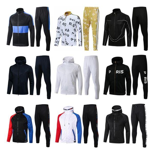 2021 Pariser Hoodie Jacke Trainingsanzüge Surveetement 2021Cavani Mbappe Fußball Jacken Air Jordam X Soccer Trainingsanzug