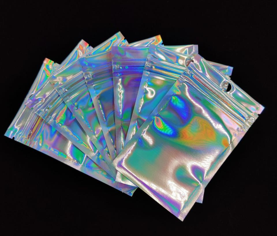300 sacchetti deodoranti ri-sigillabili, sacchetti di foglio di alluminio, sacchetti di imballaggio a colori laser piatti lampeggianti, per accessori per feste e stoccaggio alimentare