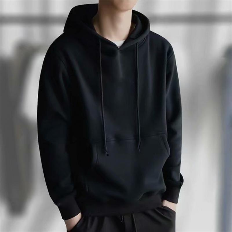 Crleisure coreano sólido manga de manga sudaderas con capucha hombres primavera ocasional deporte estudiante tops con capucha moda sudadera con capucha hombres y200519