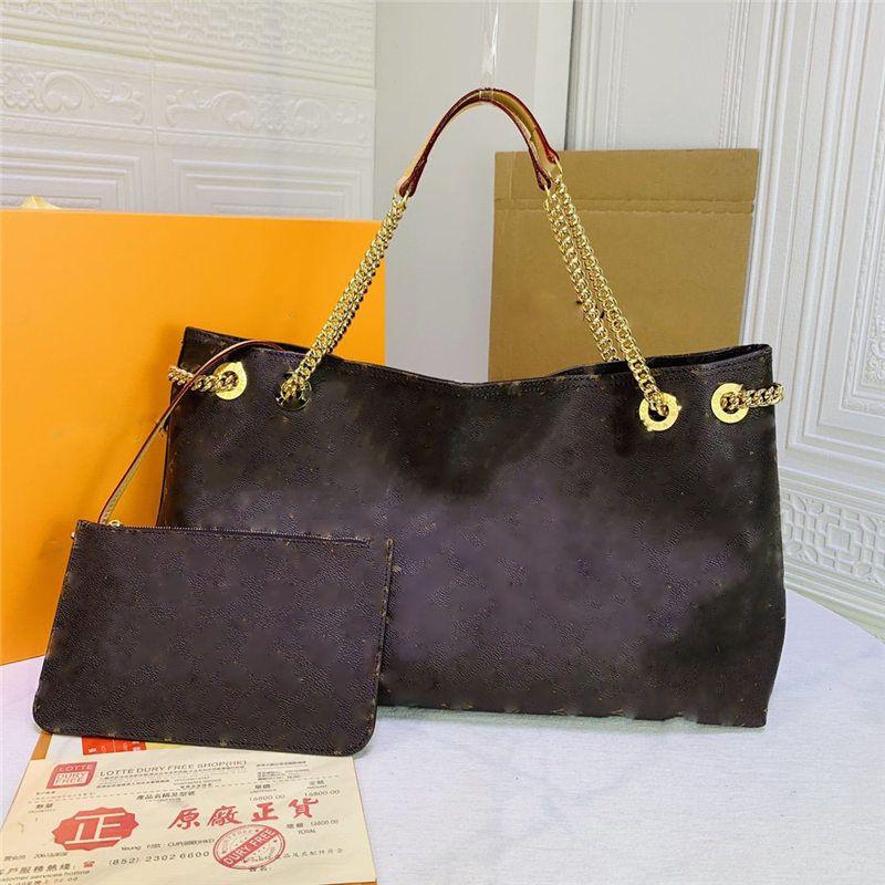 Damier Ebene Never Pm Bag Bolsa de bolsa Cadena Hangbag Tamaño: 32 * 29 * 17 V-155