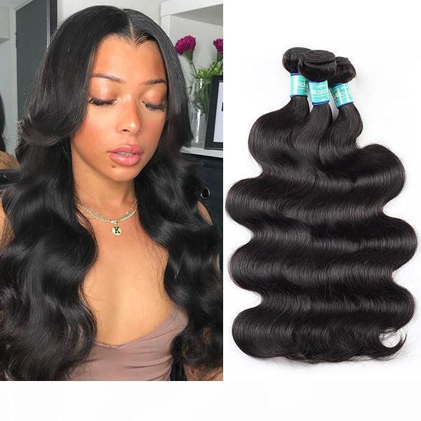 10A Barrés brasileño Flojo Profundo Pelo humano Bundles 3 4 Paquetes Ofertas Remolino Remy Remy Human Hair Extensiones profundas Cuerpo