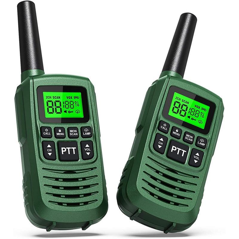 GOCOM G2 Walkie Talkies para niños adultos largo rango de dos vías Radios 22 canales LED Way Walkie Talkie 2Pack