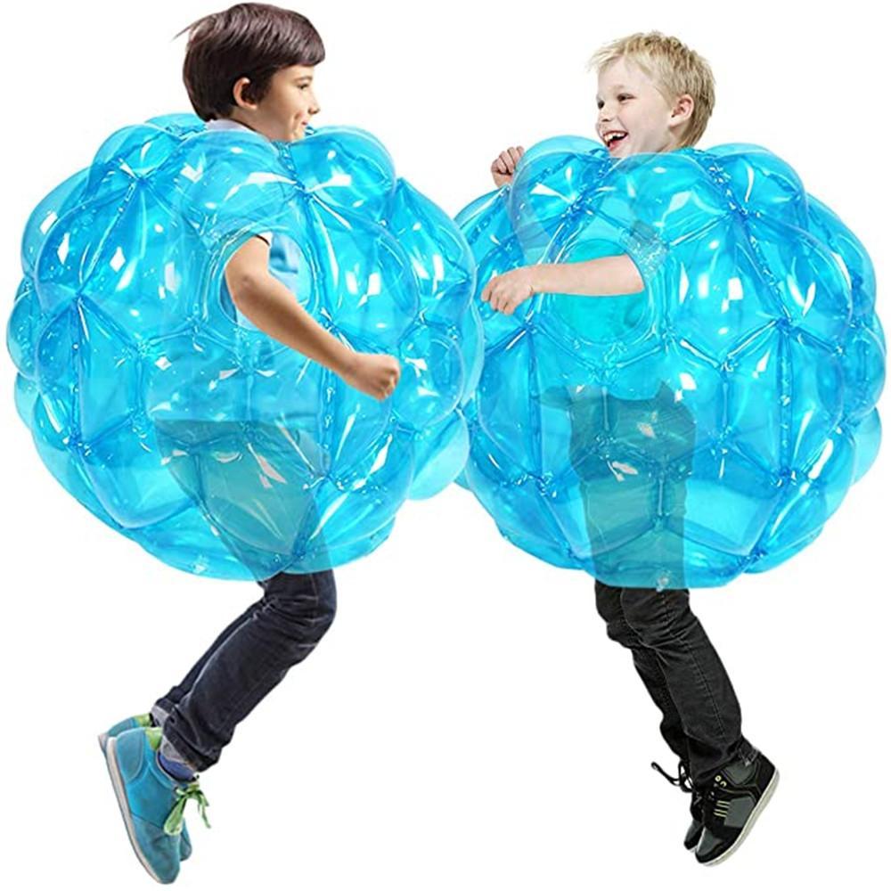 2 قطع نفخ الجسم فقاعة الوفير كرات الجسم الاصطدام الوفير الكرة صديقة للأطفال النشاط في الهواء الطلق الجسم اللكم الكرة للطفلة