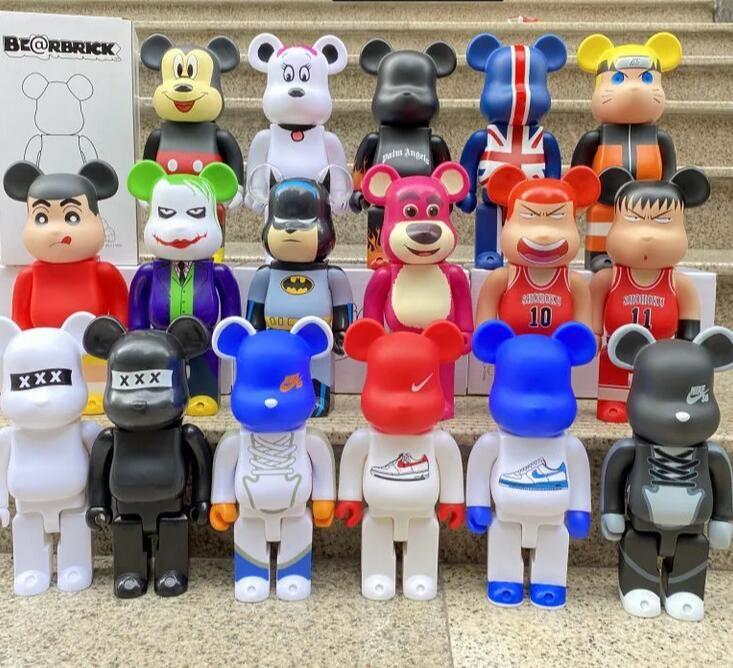 400% 28cm Bearbrick Movie Games The PVC Bluetooth Mode Bär Chiaki Figuren Spielzeug Für Sammler Sei @ RBRICK Kunstwerk Modell Dekoration Spielzeug GIF