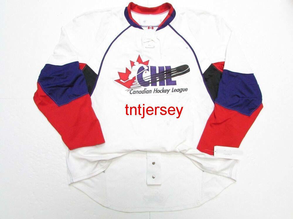 Dikişli Özel CHL 2007 En İyi Beklentiler oyunu Beyaz Jersey Herhangi bir isim ekleyin Erkek Çocuklar Jersey XS-5XL