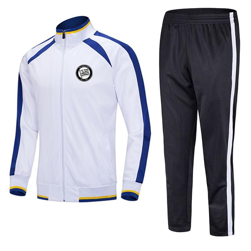 Sturm Graz 2021 자켓 축구 훈련 정장 중간 길이는 모든 패턴 팀에 맞게 사용자 정의 할 수 있습니다. 팀 스포츠 러닝 양복 훈련 정장