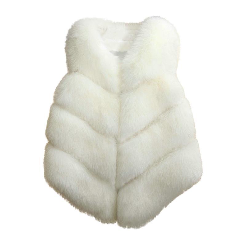 Donne Faux Pelliccia Gless Cappotto Inverno Tide Moda Femminile Casual Casual Caldo Slim Slim Faux Fur Gless Autunno Inverno Gilet selvaggio Winter