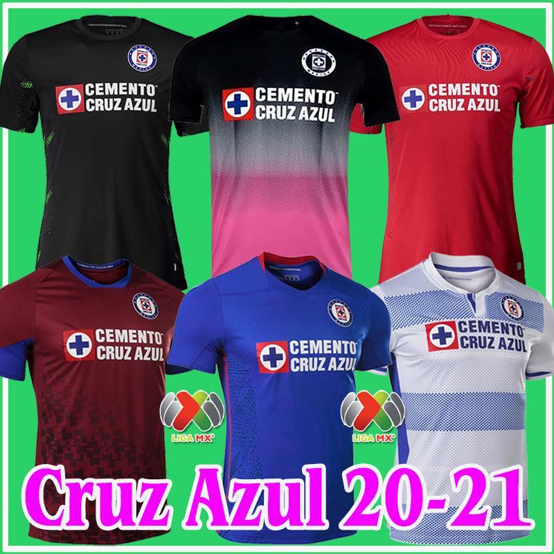 2020 2021 CD Cruz Azul Soccer Jerseys Rosa Kit rose Black Home Away 20 21 Alvarado Rodriguez Pineda Escobar Romo Toile de football de Goalkeeer