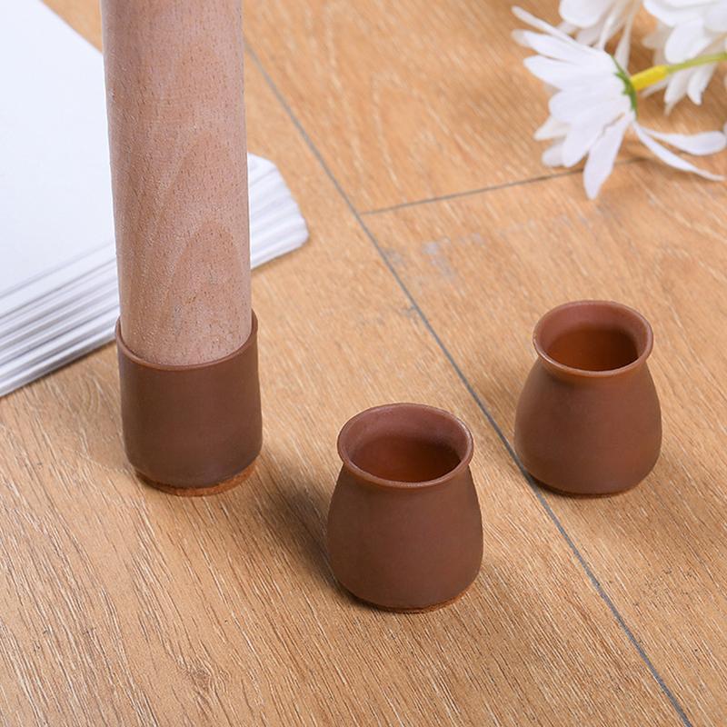 Cubiertas de silla de silla antideslizante fieltro fieltro de pie grueso amortiguador de la pierna resistente al desgaste resistente a los golpes duradero