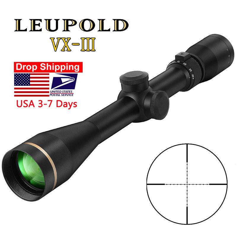 Leupold VX-3 4.5-14x40mm Riflescope 사냥 범위 전술 유리 스나이퍼 에어 소프트 총 사냥을위한 레티클 라이플 시력