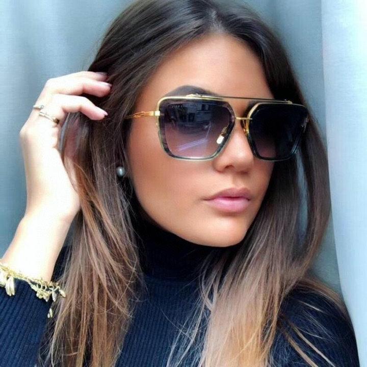 무료 배송 패션 럭셔리 클래식 스타일 그라데이션 렌즈 남자 선글라스 여성 빈티지 브랜드 디자인 태양 안경 상자와 함께 oculos de sol