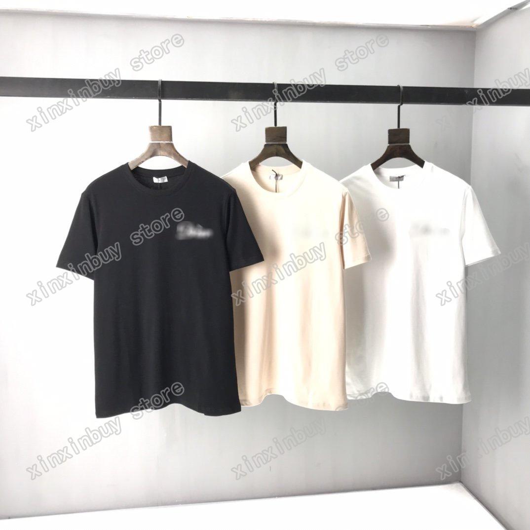 2021 Designer T Shirt Mens Womens T-Shirts Polo Back Poker Stampa Man Paris Moda T-shirt T-shirt Tees Street Manica Corta Luxurys Blu bianco nero Xinxin
