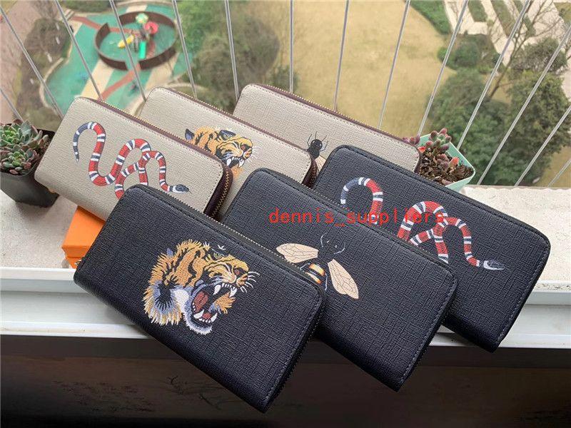 С коробкой нового длинного кошелька для женщин дизайнерская сумка на молнии женская дама держатель кармана карманный кошелек для монет
