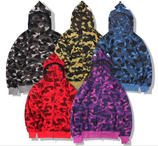 Nedensel Erkek Kapşonlu Ceketler Unisex Kamuflaj Hoodies Kadın Erkek Camo Mont Hip Hop Streetwear Çift Ceketler JK009