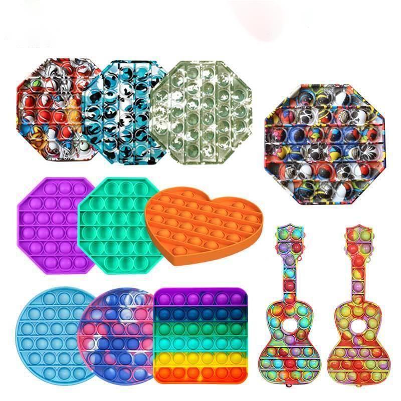 Commercio all'ingrosso push bolla sensoriale sensoriale giocattolo giocattolo autismo squishy stress reliever giocattoli giocattoli adulti ragazzo unicorno fidget giocattoli in magazzino