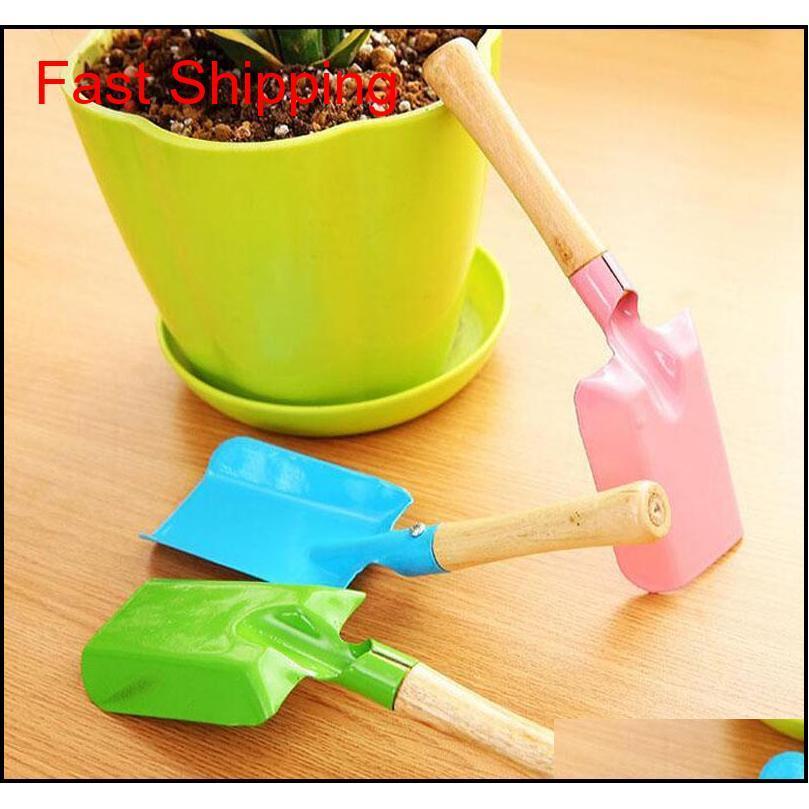 Mini Gardening Shovel Colorful Metal Small Shovel Garden Spade Hardware Tools Digging Garden Tools qylHqq dh_seller2010
