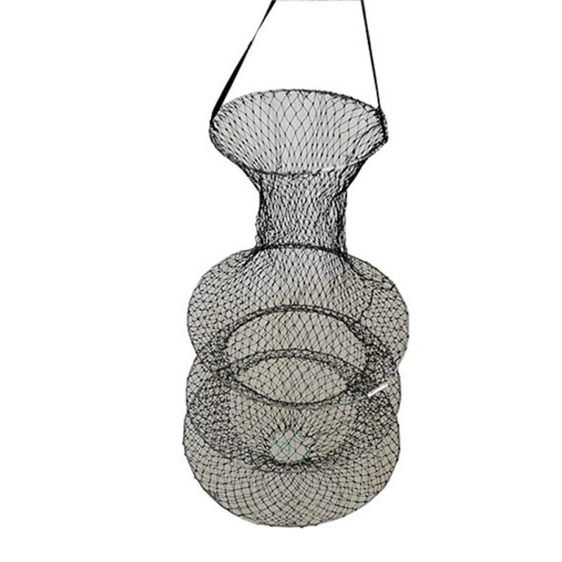 Pieghevole a 3 layer mesh in rete per la pesca in rete da pesca esca da pesca tieni l'utensile da pesca in nylon netto caldo