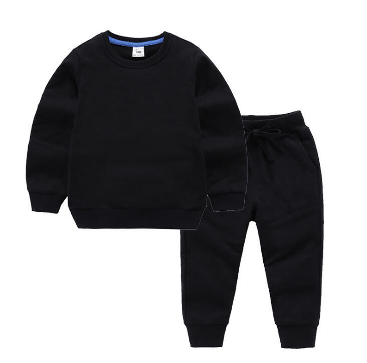Clothing Sets Toddle Baby Round Neck Long-sleeved Trousers Designer Kids Clothes Boys And Girls Two-piece Letter Print 2-9 Years