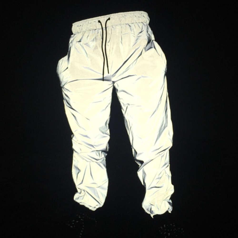 Бесплатная капля грузоотправителя Joggers мужская светоотражающая штаны мужские хип-хоп женские танец танцуют ночь свет блестящий мигать длинные брюки