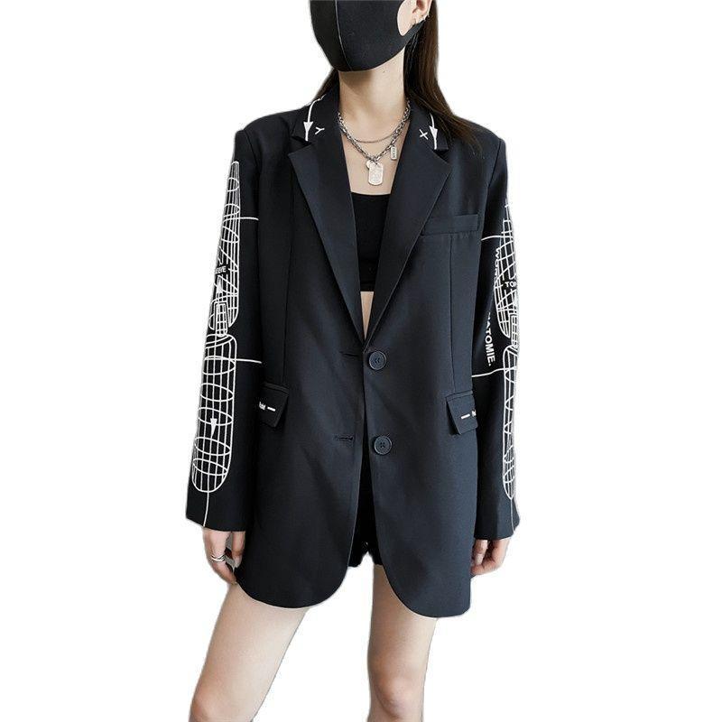 Femininas Mulheres Blazers Casual Terno Casaco Senhoras 2021 Primavera Outono Blazer Casacos Outerwear F840