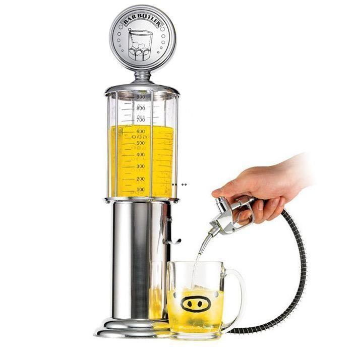 New mini distribuidor de cerveja máquina bebendo embarcações de arma única bomba com design transparente de posto de gasolina design para beber vinho DHF5336