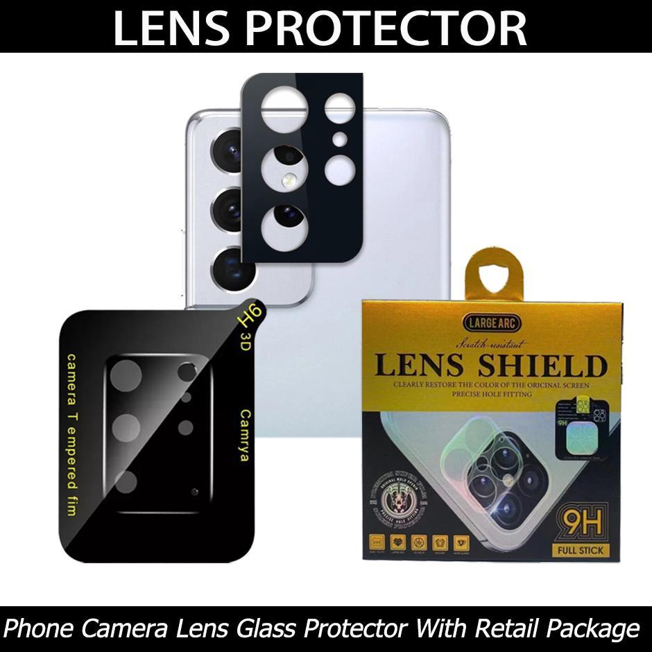 3D غطاء كامل الهاتف عدسة الكاميرا عدسة زجاجي آيفون 12 11 برو ماكس سامسونج S21 S20 Note20 Ultra S10 Plus A71 A51 مع صندوق البيع بالتجزئة