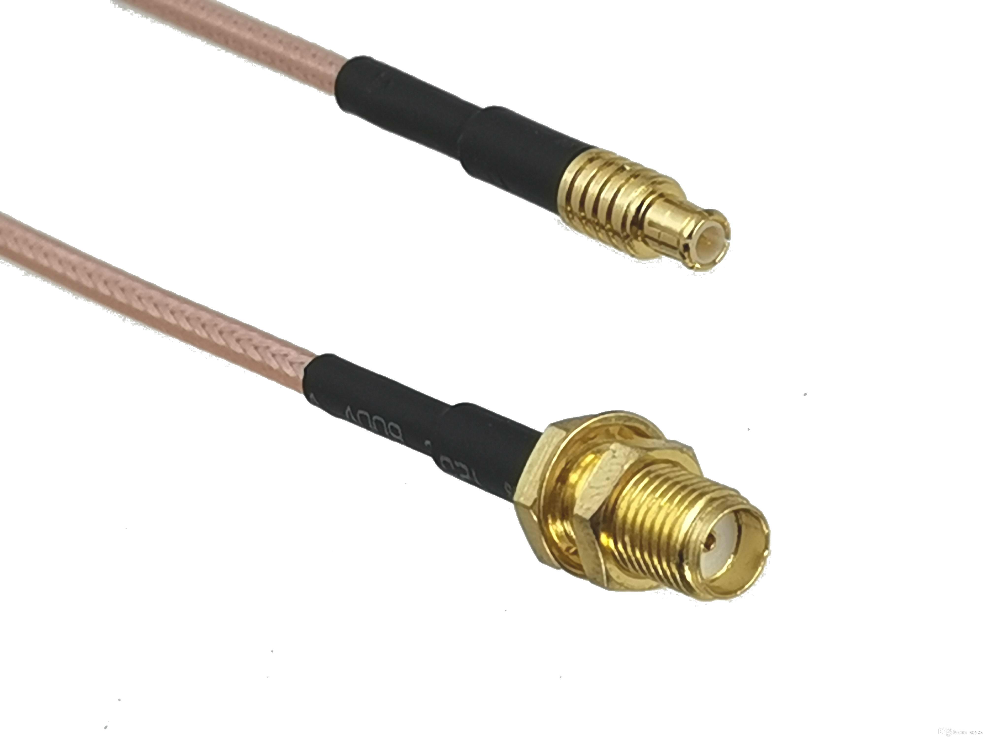 OEM RG316 SMA Mujer Jack Bulkhead a MCX Conector de enchufe masculino Antenas RF Puente coaxial Pigtail Cable para la antena de radio 4 pulgadas ~ 10 m fábrica