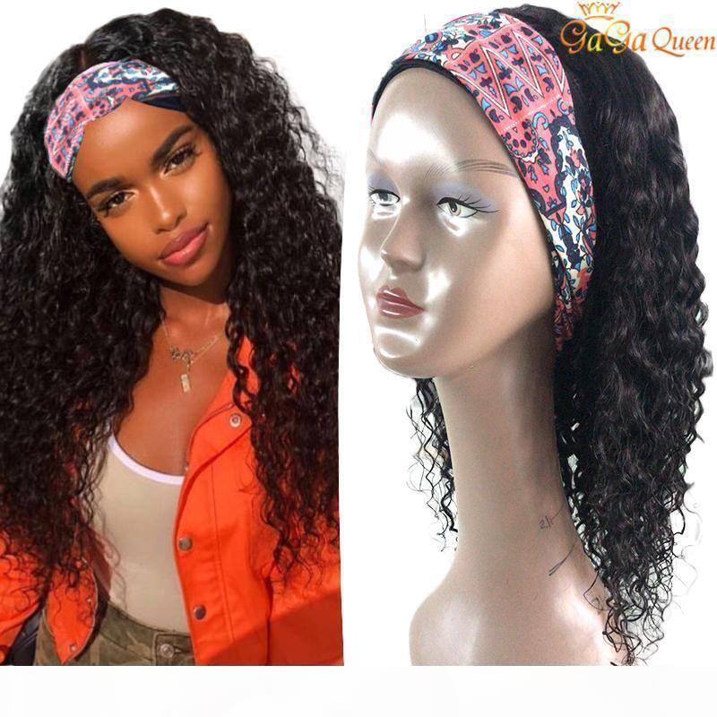 Оголовье парик Волна Волна Человеческих Волос Парик 150% Плотность Волос Нижний Клей Реальные волосы Remy Перуанский Парик