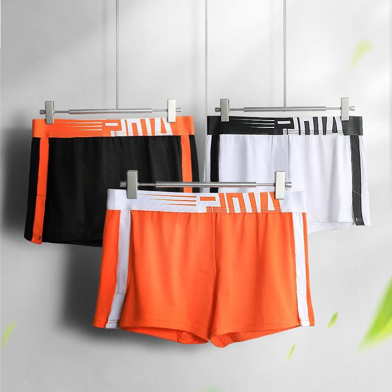 Hombres ropa interior gatos personalidad tendencia respiración boxeador pantalones cortos